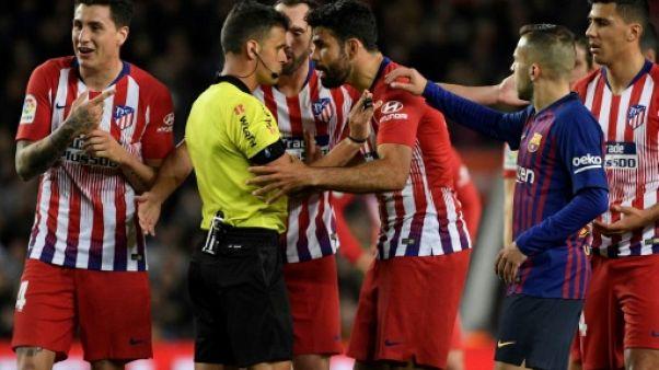 Atletico: Diego Costa suspendu 8 matches pour avoir insulté et agrippé un arbitre