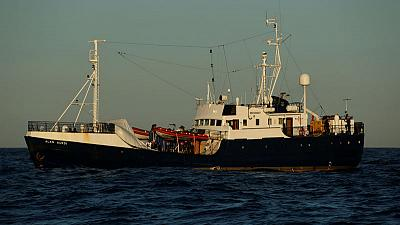 Stranded migrant boat appeals to Europe for port after eight days at sea