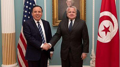 Réunion du sous-secrétaire d'Etat M. Sullivan avec le ministre des Affaires étrangères tunisien M. Jhinaoui