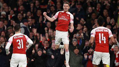 Arsenal take 2-0 advantage over Napoli in Europa League