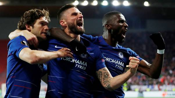 Late Alonso header gives Chelsea win in Prague