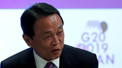 Japan urged G20 to strengthen global coordination - finance minister Aso