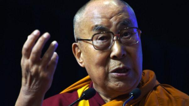 Le dalaï lama le 13 août 2017 à Bombay, en Inde