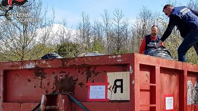 Blitz Noe contro smaltimento rifiuti
