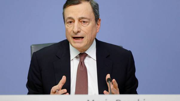 Euro zone growth relies on global pull - ECB's Draghi