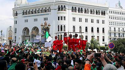 With Bouteflika gone, tens of thousands protest in Algeria to demand more change