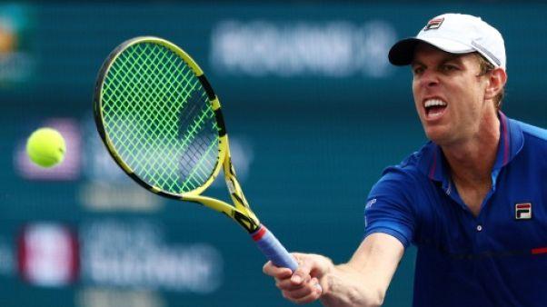 L'Américain Sam Querrey lors du tournoi d'Indian Wells le 9 mars 2019