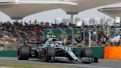 Motor racing - Bottas on pole for Formula One's 1,000th race