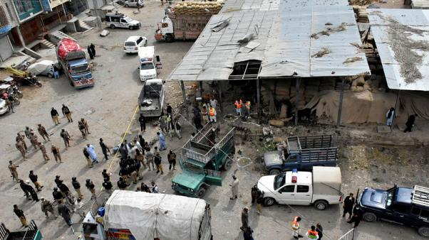 Islamic state says it was behind Pakistan market suicide bombing