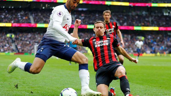 Lucas hat-trick helps Spurs to thrash Huddersfield