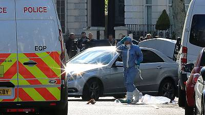 Police open fire as vehicle rams Ukraine embassy car in London; no injuries