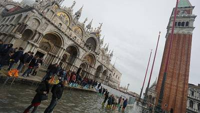 San Marco, primo test sitrema anti-marea