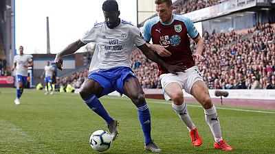 Wood double gives Burnley win over Cardiff in relegation scrap
