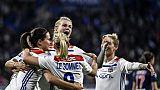 L'équipe féminine de Lyon écrase le PSG 5-0 et fonce vers le titre