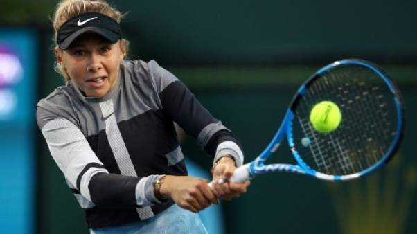L'Américaine Amanda Anisimova lors du tournoi d'Indian Wells le 8 mars 2019