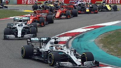 Gp Cina: vince Hamilton, terzo Vettel