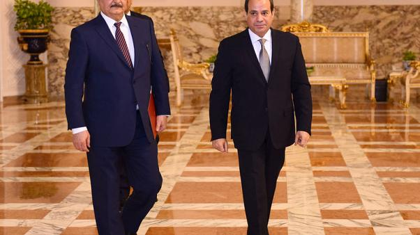 Egypt's president meets Libyan commander Haftar in Cairo