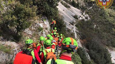 Scialpinisti tratti in salvo di notte