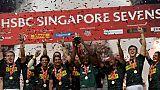 Rugby à VII: l'Afrique du Sud renverse les Fidji à Singapour