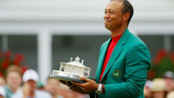 L'Américain Tiger Woods remporter le Masters d'Augusta le 14 avril 2019