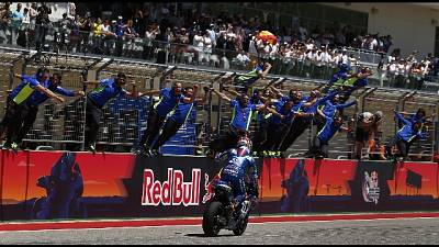 MotoGp:Americhe,vince Rins,Rossi secondo