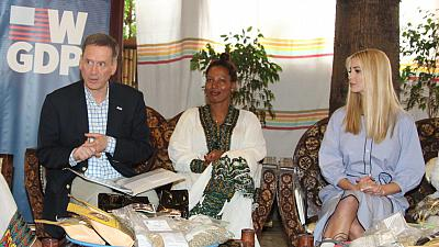 Advisor to the President Ivanka Trump and USAID Administrator Mark Green meet Ethiopian women in Coffee Association Entrepreneurs
