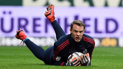 Bayern keeper Neuer sidelined with calf muscle injury