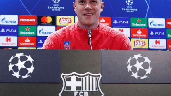 تير شتيجن: برشلونة سيسعى لفرض السيطرة أمام يونايتد