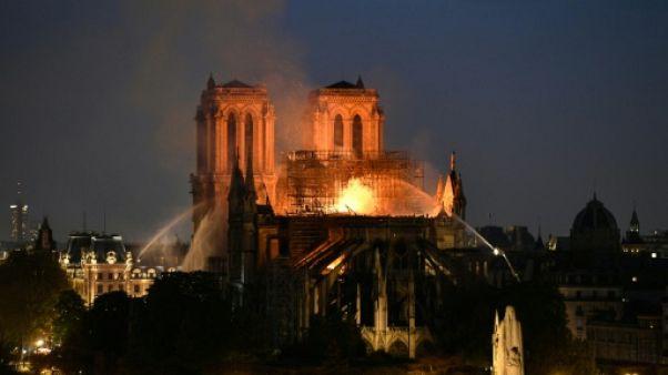 La cathédrale Notre-Dame de Paris, le 15 avril 2019