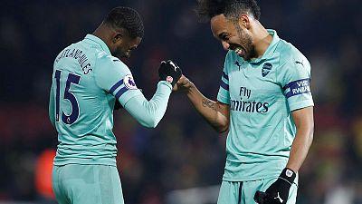 Freakish goal gives Arsenal 1-0 win at 10-man Watford
