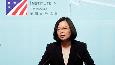 Tsai says Chinese drills threaten Taiwan but is not intimidated