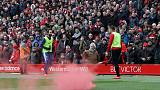Liverpool vows to ban supporter who threw flare into Chelsea end at Anfield