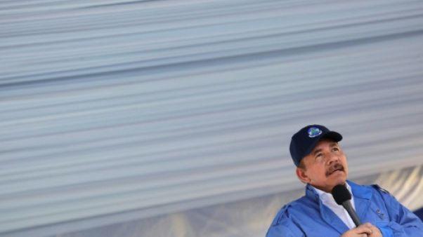 Le président du Nicaragua, Daniel Ortega, à Managua le 22 août 2018