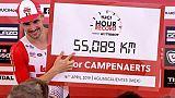 Record de l'heure: Campenaerts bat Wiggins et dépasse les 55 kilomètres