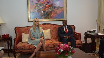 Ivanka Trump rencontre le Vice-Président Daniel Kablan Duncan