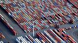 EU goods trade surplus with U.S. grows, deficit with China widens