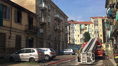 Fiamme in abitazione Torino, morta donna
