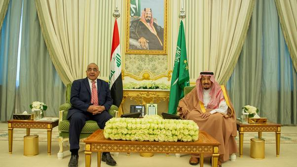 Iraqi PM Abdul Mahdi meets Saudi King Salman on first visit to Saudi Arabia
