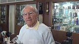 Barbiere da 77 anni, festeggia 90 anni