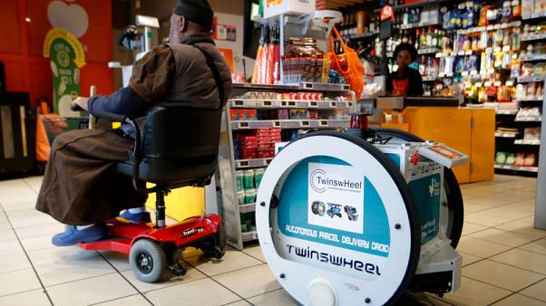 May the shopping be with you: French supermarket tests robot delivery