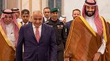 رئيس وزراء العراق يجتمع مع ولي عهد السعودية في الرياض