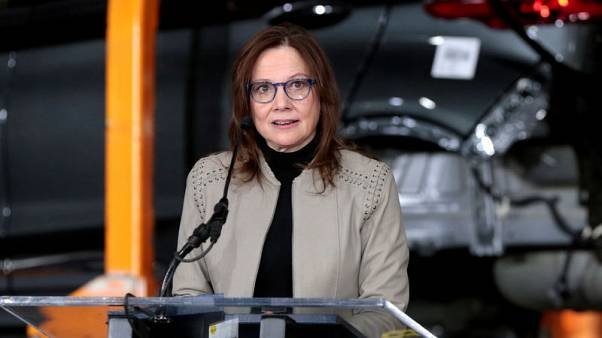 GM CEO Barra's pay dipped slightly to just under $22 million in 2018