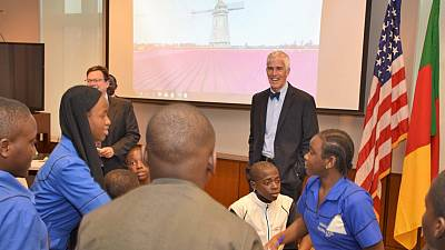 Ambassador Barlerin encourages students to uphold ethical values