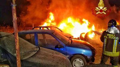 Incendiata auto giornalista sarda