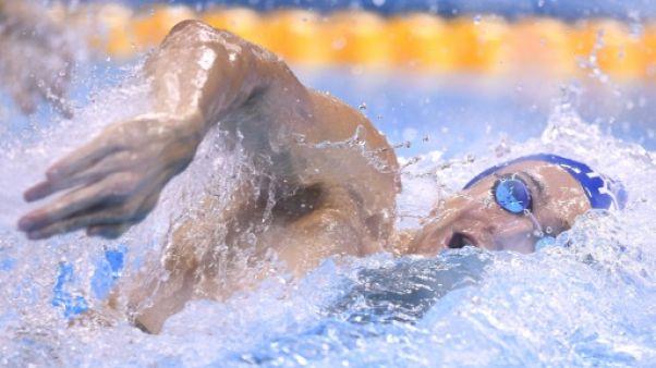 Clément Mignon lors du 100 m libre aux JO de Rio, le 9 août 2016