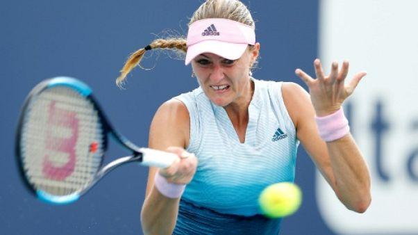 Kristina Mladenovic lors du tournoi de Miami, le 21 mars 2019