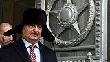 Le maréchal Khalifa Haftar, lors d'une visite à Moscou, le 29 novembre 2016
