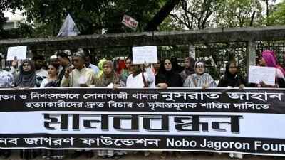 Bangladesh: manifestations après le meurtre d'une jeune femme victime de harcèlement