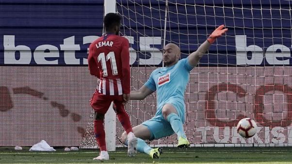Lemar leaves it late to give Atletico win at Eibar