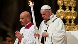 Pope leads Catholics into Easter with vigil Mass